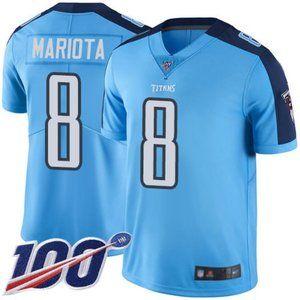 Mens Titans Marcus Mariota 100th Jersey